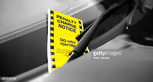Parking fine on windscreen