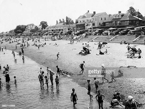 Parking food shops and ice cream stands are all close by at Wollaston Beach in Quincy Mass on Aug 10 1934