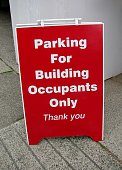 Parking  For Building Occupants Only sign.