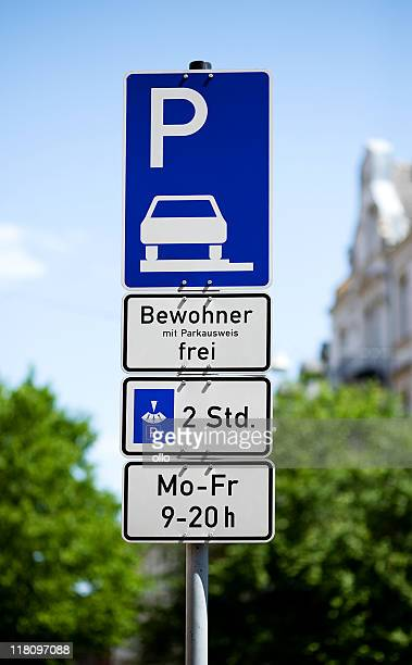 Parking for residents only - german traffic sign