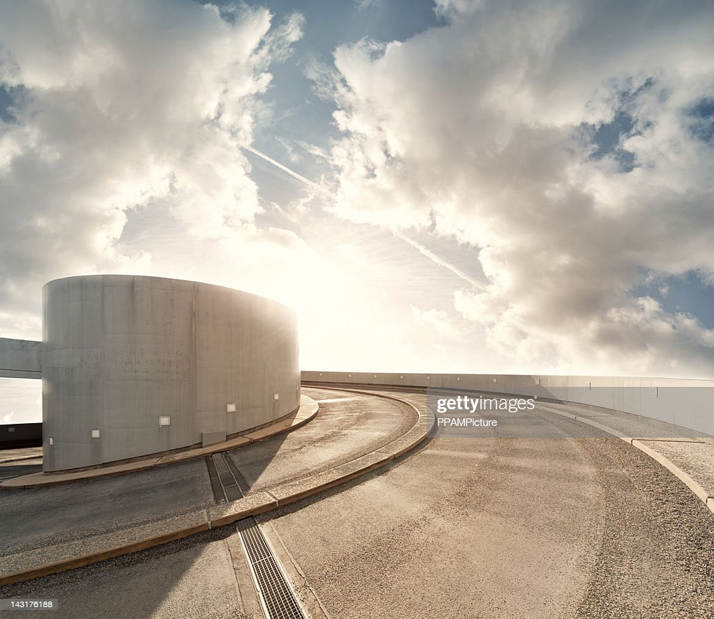 Parking garage road in the sky : Stock Photo
