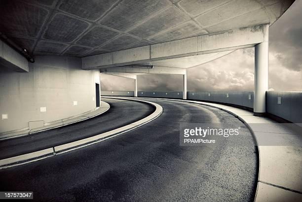 Parkgarage Spirale Auffahrt