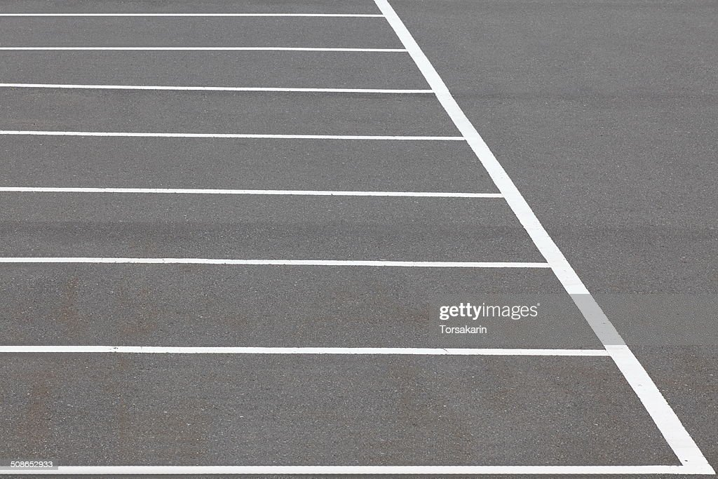 Parking lane outdoor in public park : Stock Photo