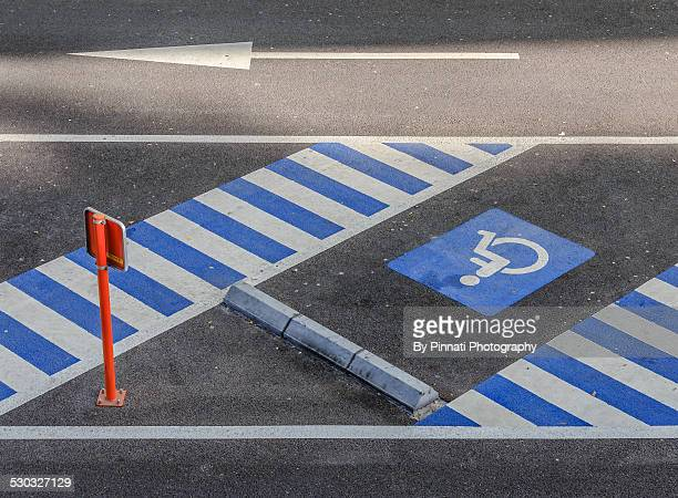 Parking lot for the disabled