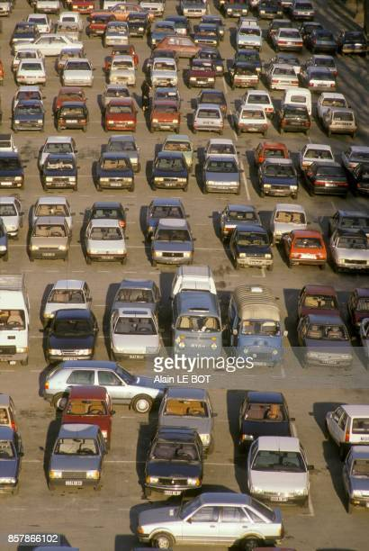 Parking lot Saint Andre in May 1991 in Nantes France