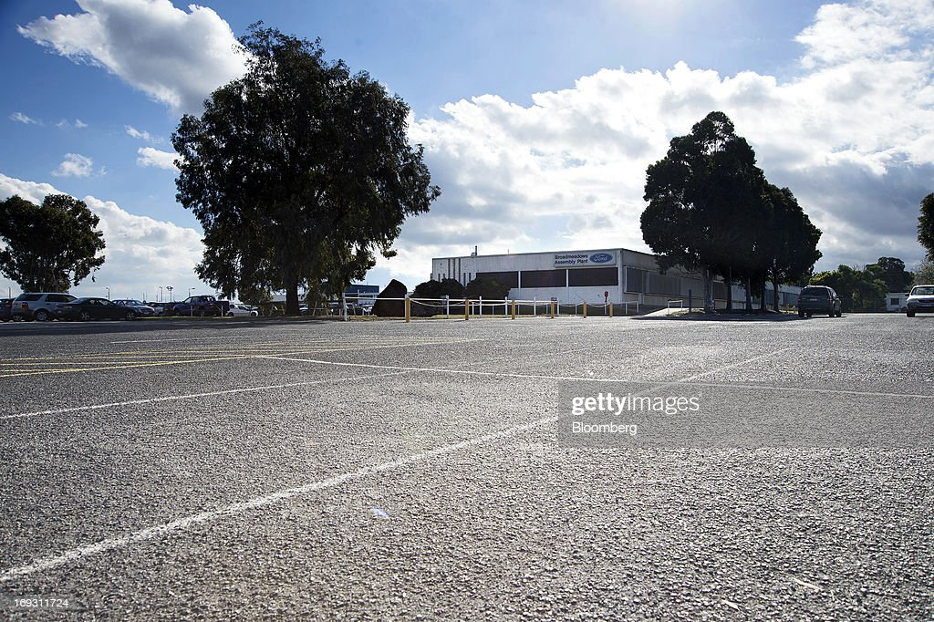 A parking lot stands empty in front of Ford Motor Co.'s Broadmeadows assembly plant in Melbourne, Australia, on Thursday, May 23, 2013. Ford will stop making cars in Australia, nine decades after founder Henry Ford first began building Model Ts in the country, as a surge in the currency undermines the local industry's ability to compete with imports. Photographer: Carla Gottgens/Bloomberg via Getty Images