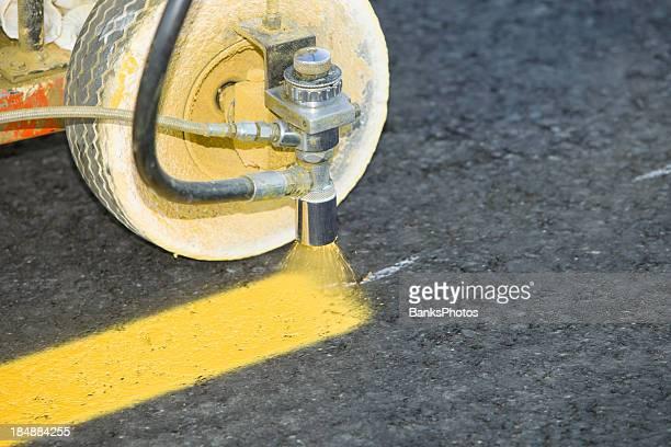 Parking Lot Stripe Painting on New Asphalt