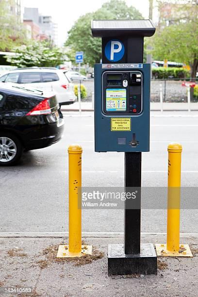 Parking meter on urban street