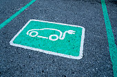 Parking reserved for electric cars