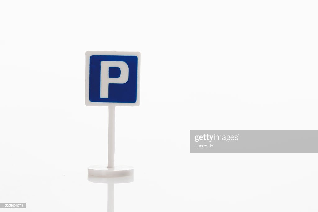 Parking sign on white background : Stock Photo