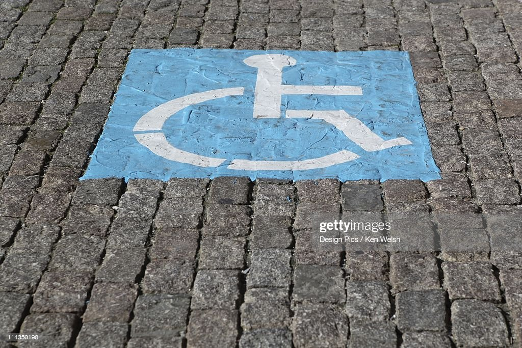 Parking Space Reserved For Disabled Drivers