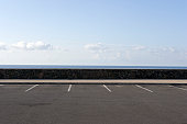 Parking spaces overlooking ocean.
