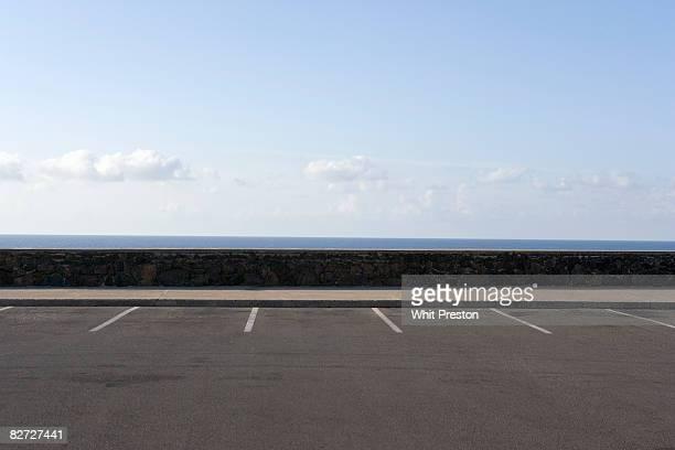 Parking spaces overlooking ocean.