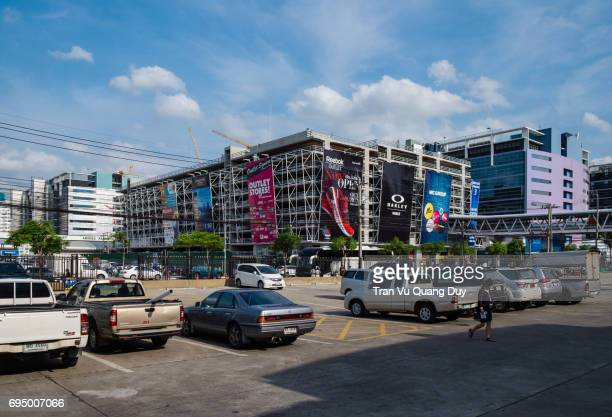 Parking, streets, under DonMuang's apartment area, Thailand.