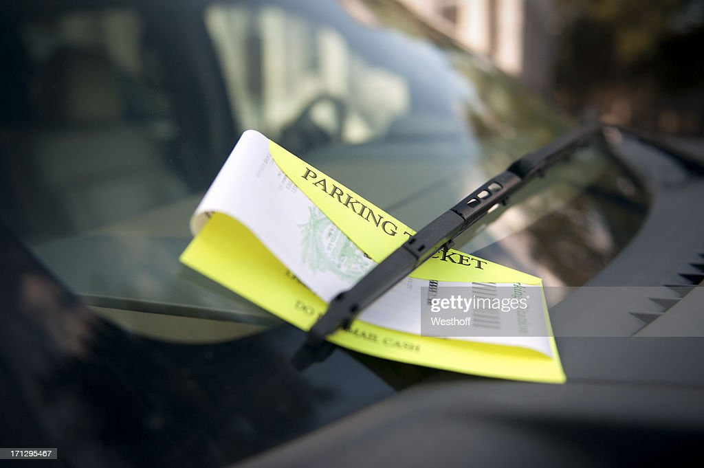 Parking Ticket : Stock Photo