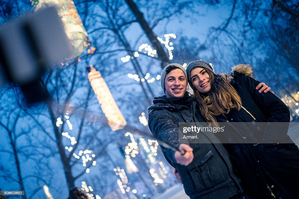 Parks are great in Christmas time! : Stock Photo