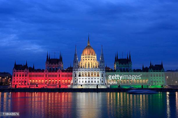 Parliament at dusk in Budapest, Hungary