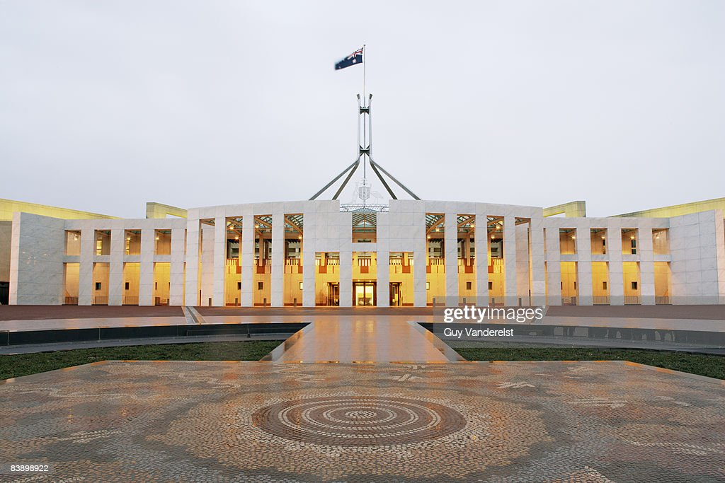 Parliament Building in Canberra : Stock Photo