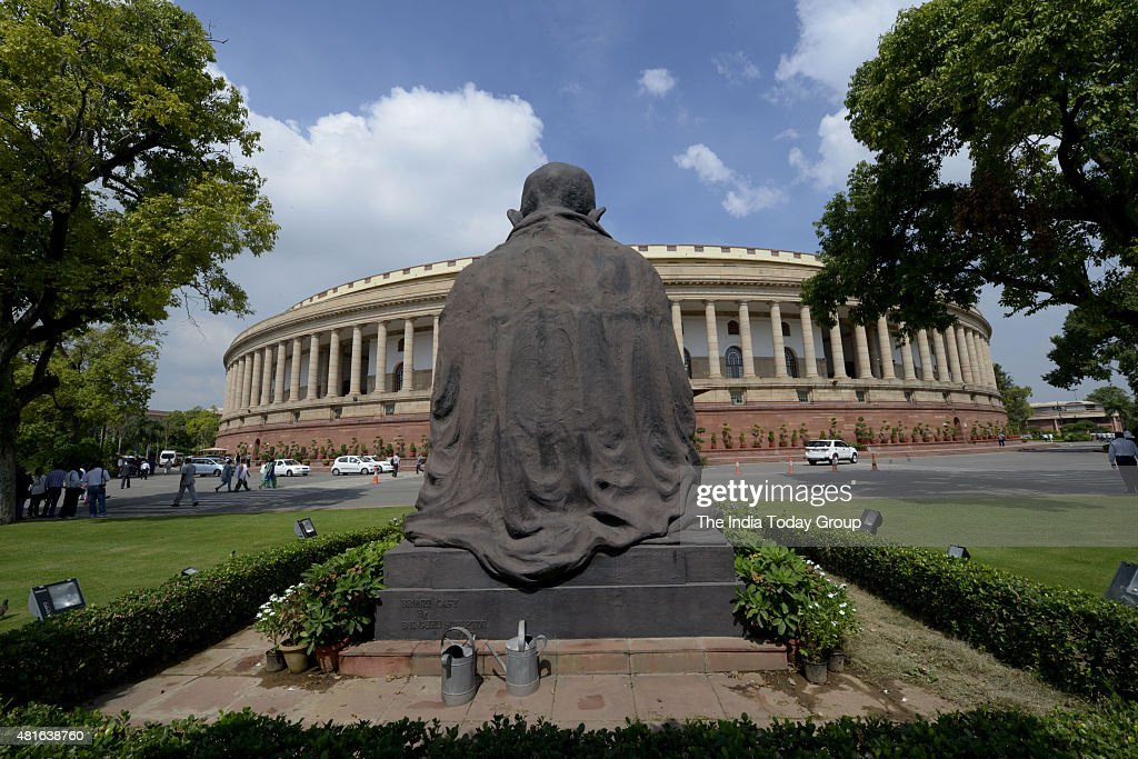 Parliament building in New Delhi
