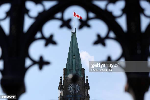 Parliament Hill in Ottawa OntarioCanada is seen August 11 2016 A Canadian man who had pledged allegiance to the Islamic State group in a video was...