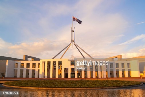 Parlamento-Camberra casa (nascer do sol)