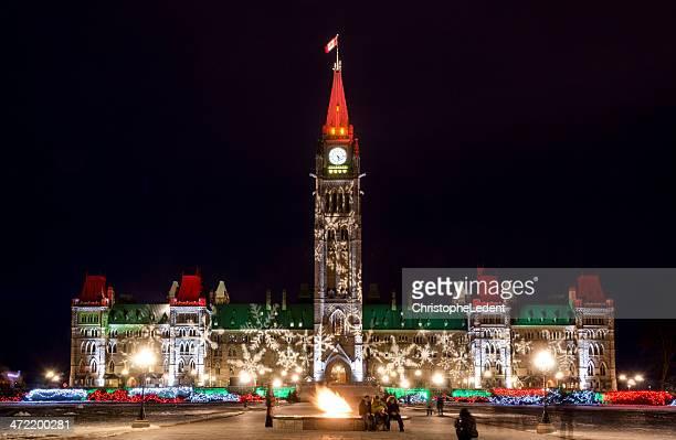 Das Parlament von Kanada an Weihnachten