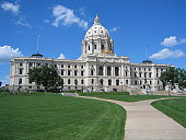 The parliament building of the state of Minnesota MN / USA at the capitol city Minneapolis