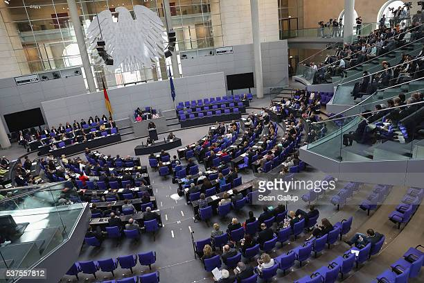 Parliamentarians at the Bundestag discuss a resolution on whether to recognize the 1915 Armenian genocide on June 2 2016 in Berlin Germany The...