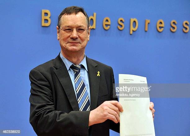 Parliamentary commissioner for the German armed forces Hellmut Koenigshaus presents his annual assessment report of 2014 at a press conference in...