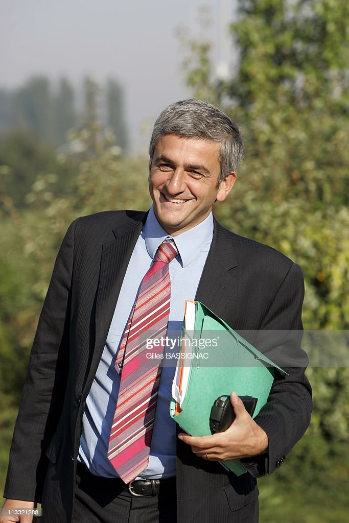Parliamentary Days Of The Udf - On September 21St, 2005 - In Taissy, France - Here, Herve Morin, President Of The Group Udf At The Assembly