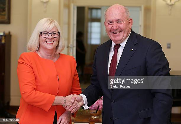 Parliamentary Secretary to the Minister for Industry and Science Karen Andrews is sworn in by GovernorGeneral Peter Cosgrove at Government House on...