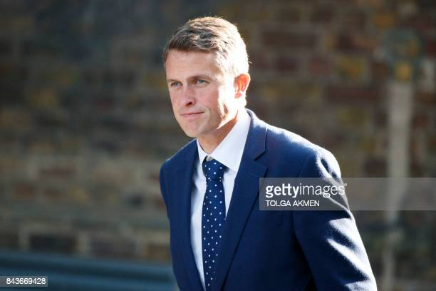 Parliamentary Secretary to the Treasury and Chief Whip Gavin Williamson walks in Downing Street in London on September 7 2017 / AFP PHOTO / Tolga...