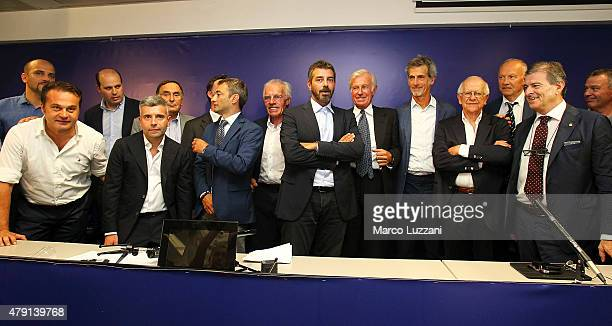 Parma Calcio 1913 at the end of the press conference at Stadio Tardini on July 1 2015 in Parma Italy
