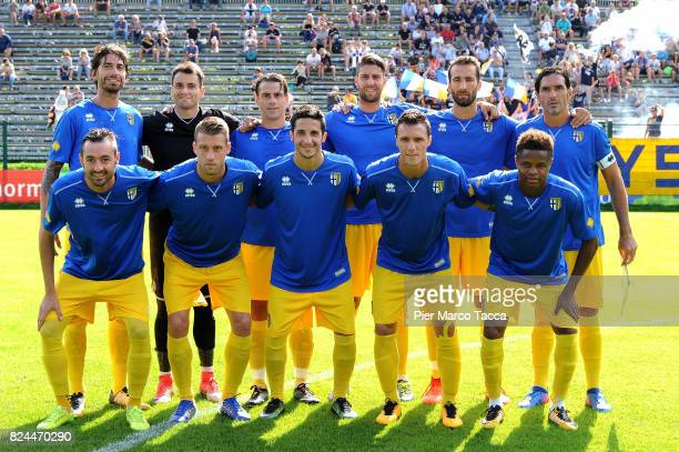 Parma Calcio team poses during the preseason friendly match between Parma Calcio and Dro on July 30 2017 in Pinzolo near Trento Italy