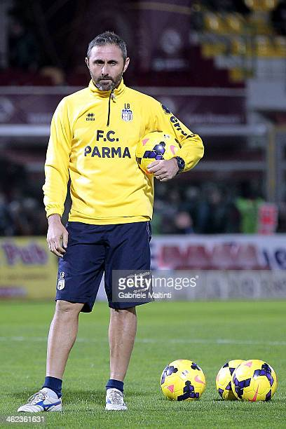 Parma FC goalkeepers coach Luca Bucci during the Serie A match between AS Livorno Calcio and Parma FC at Stadio Armando Picchi on January 11 2014 in...