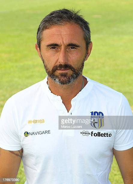 Parma FC goalkeepers coach Luca Bucci poses for an official portrait at the club's training ground on August 20 2013 in Collecchio Italy