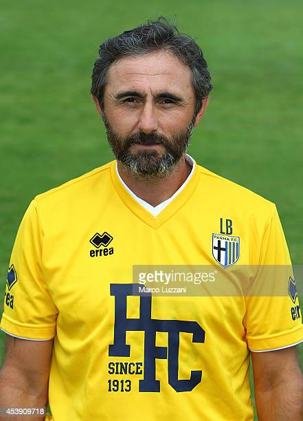 Parma FC goalkeeping coach Luca Bucci poses during the official Parma FC portrait session at the club's training ground on August 21 2014 in...