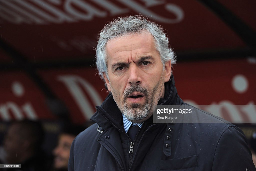 Parma FC head coach <a gi-track='captionPersonalityLinkClicked' href=/galleries/search?phrase=Roberto+Donadoni&family=editorial&specificpeople=654860 ng-click='$event.stopPropagation()'>Roberto Donadoni</a> looks on during the Serie A match between AC Chievo Verona and Parma FC at Stadio Marc'Antonio Bentegodi on January 20, 2013 in Verona, Italy.