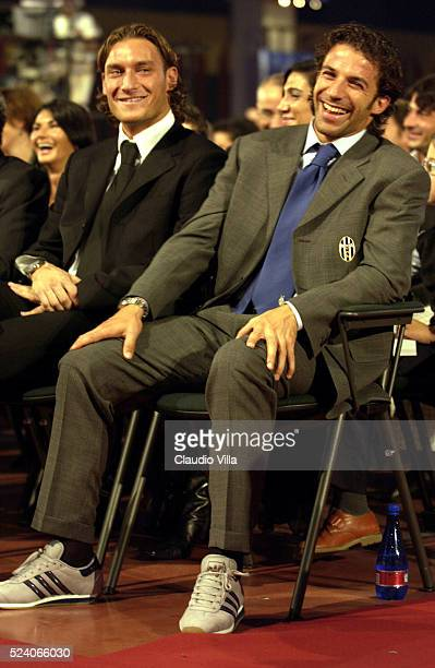 Francesco Totti of AS Roma and Alessandro Del Piero of FC Juventus attend at Oscar Del Calcio Parmalat Parma