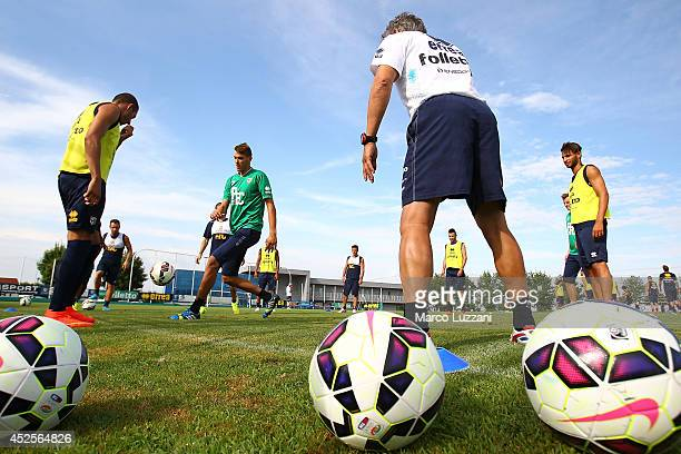Parma players train during FC Parma Training Session at the club's training ground on July 23 2014 in Collecchio Italy