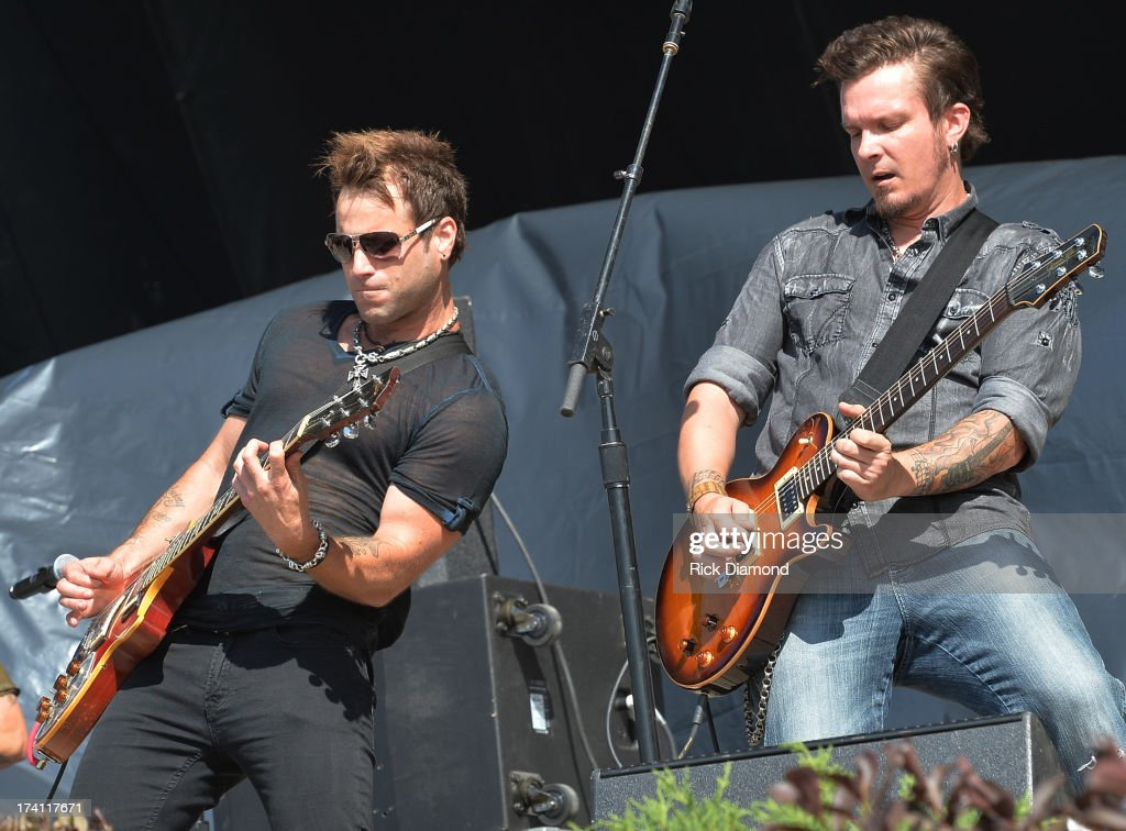 Parmalee performs at Country Thunder - Twin Lakes, Wisconsin - Day 2 on July 19, 2013 in Twin Lakes, Wisconsin.