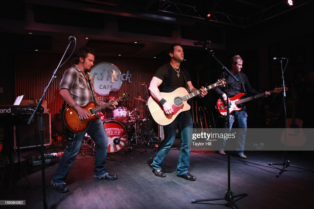 Parmalee performs during the BBR Music Group 3rd annual Pre-CMA party at the Hard Rock Cafe Nashville on October 31, 2012 in Nashville, Tennessee.