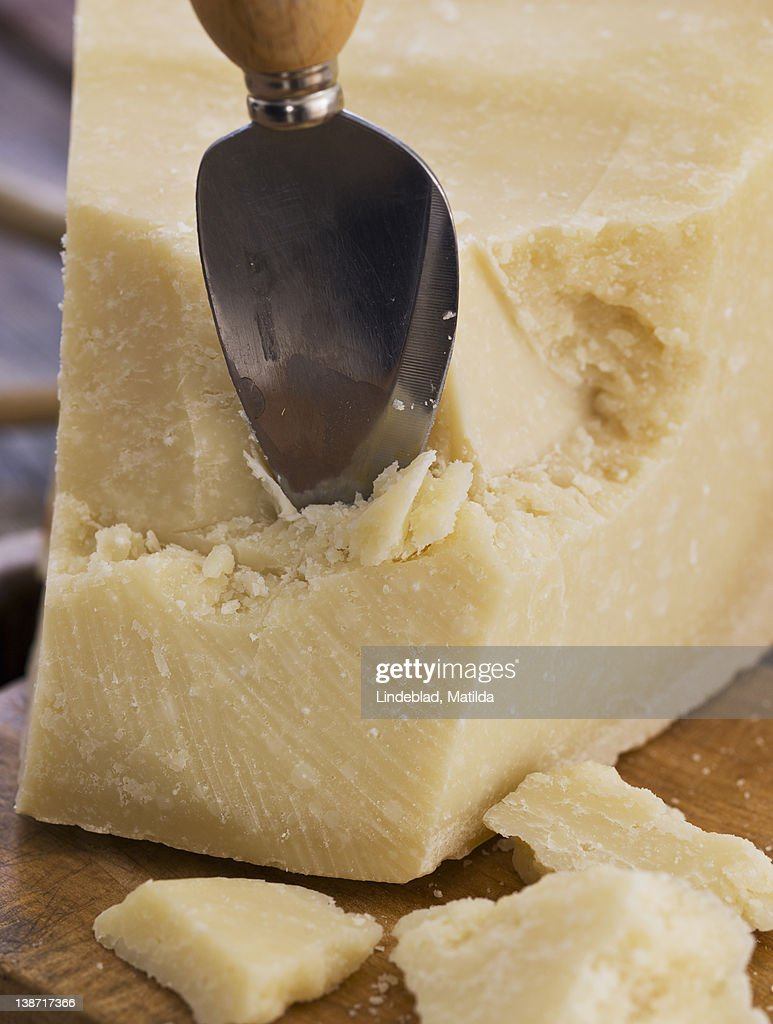Parmesan cheese with spoon