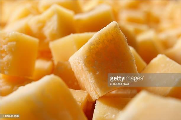 Parmesan cube close-up