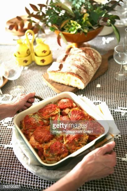 Parmigiana di carciofi (gratinated artichokes, Italy)
