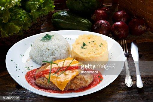 parmigiana steak : Stock Photo