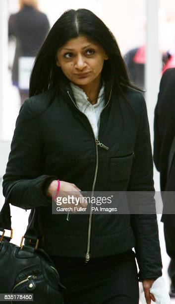 Parminder Sahota a senior immigration officer who worked for the UK Border Agency in Paris arrives at Ashford Tribunal Services in Ashford Kent where...