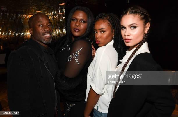 Parnell Damone Marcano Deborah Joy Winans Lovie Simone and Desiree Ross attend 'Greenleaf' Season 2 Premiere Party at W Atlanta Midtown on March 13...