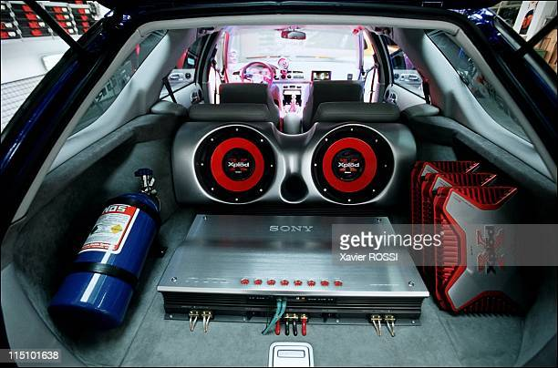 Parotech Concept rules over car tuning in Langres France on September 05 2001 Nitrous and sound systems inside the Honda Parotech Concept