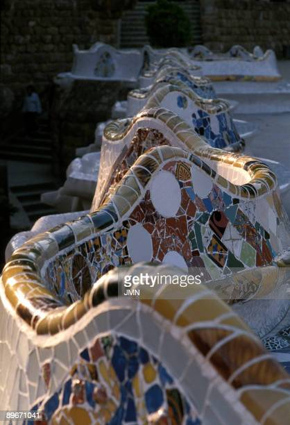 Parque Güell Güell Park Barcelona Designed by Antonio Gaudi it is considered to be one of the most important art nouveau works in the world